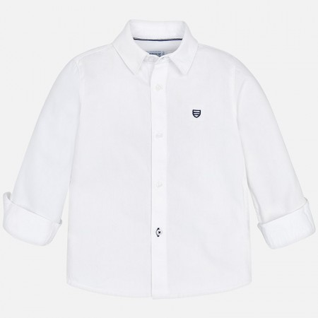 Mayoral - Skjorte slim fit, white