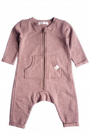 By Heritage - Otto playsuit, solid dark old pink