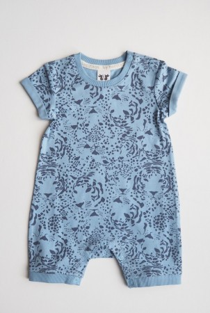By Heritage  - Frans playsuit, print blue