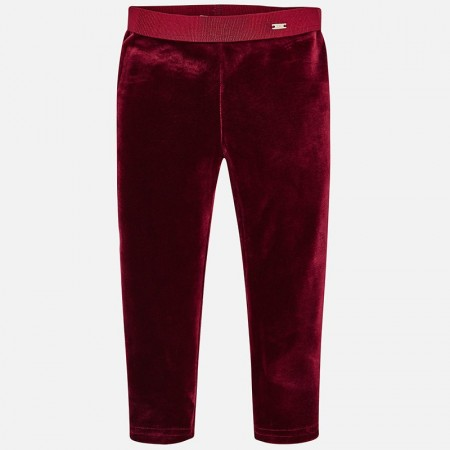 Mayoral - Velvet leggings, frambuesa