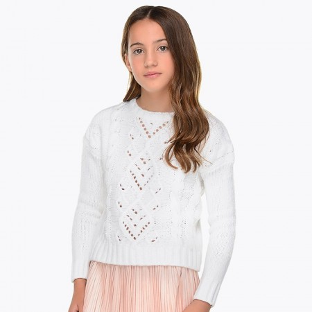 Mayoral - Pearl sweater, offwhite