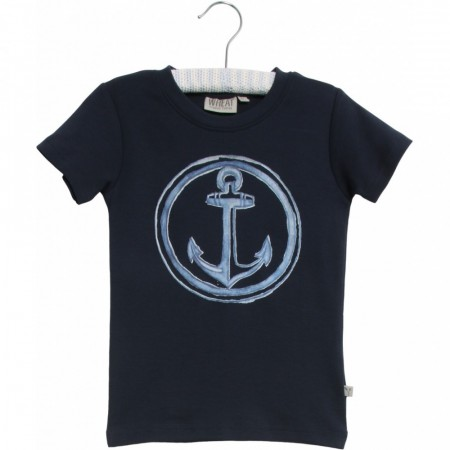 Wheat - Anchor t-skjorte, navy