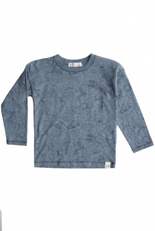 By Heritage - Ted longsleeve, print sea blue
