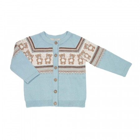 MeMini - Teddy cardigan, foggy mint