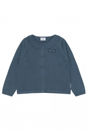 Hust & Claire - Carla strikket cardigan, china blue