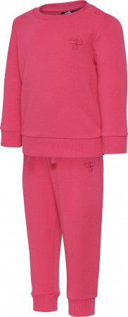 Hummel - Santo crew dress, raspberry pink
