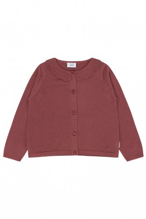 Hust & Claire - Carla strikket cardigan, red rouge