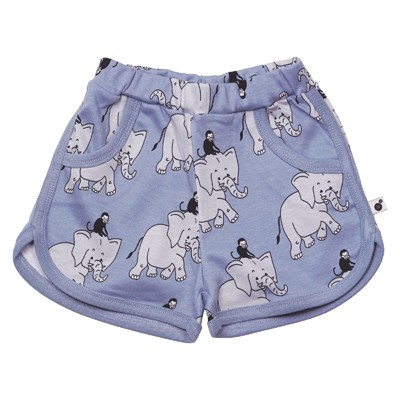 Krutter - Shorts m/elefant, blue
