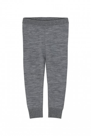 Hust & Claire - Loui ull leggings, wool grey