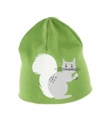 Kattnakken - 2-side lue squirrel, green