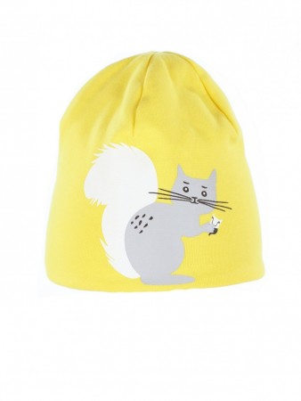 Kattnakken - 2-side lue squirrel, yellow